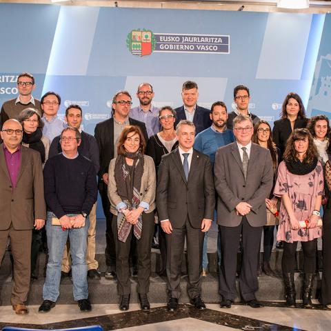 The Lehendakari welcomes new Ikerbasque researchers